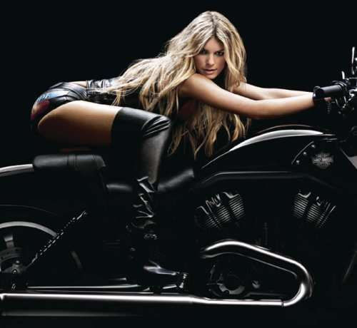 Motorcycle Super Models - Marisa Miller for Harley Davidson:
