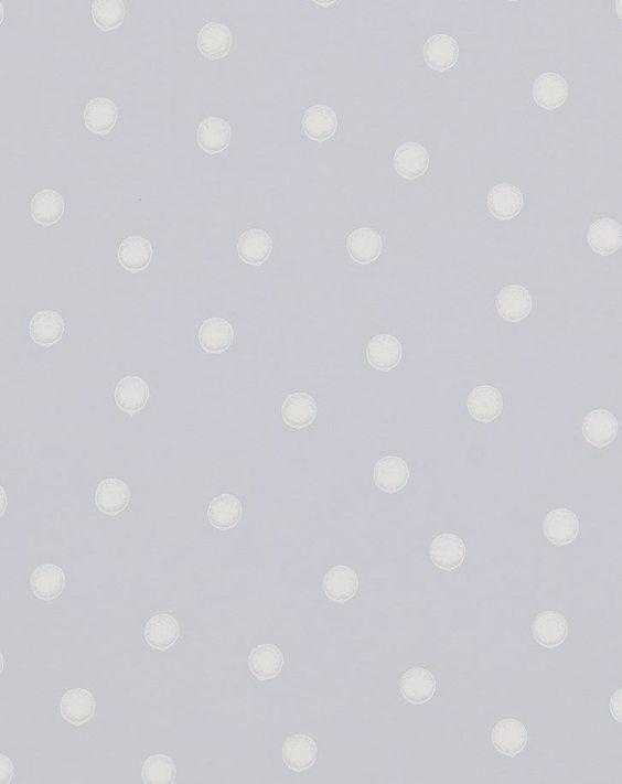 papel pintado polka dot azul | telas & papel