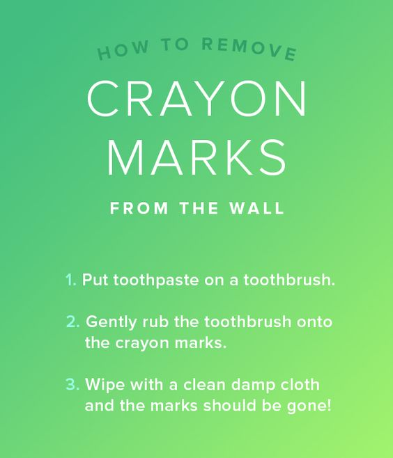 Remove crayon from the wall with toothpaste 7 cleaning hacks you need to know home the wall - Remove crayon walls ...