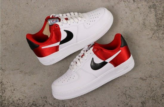 Planificado tienda de comestibles Púrpura  Nike Air Force 1 Low NBA White Black Red Satin BQ4420-600 | Nike air shoes, Nike  air force ones, Nike shoes air force