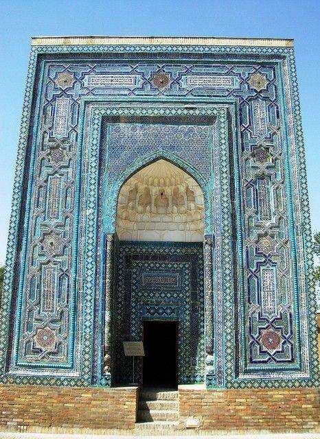 ISLAMIC ART & ARCHITECTURE: Shah-I-Zinda Necropolis, Samarkand, Uzbekistan