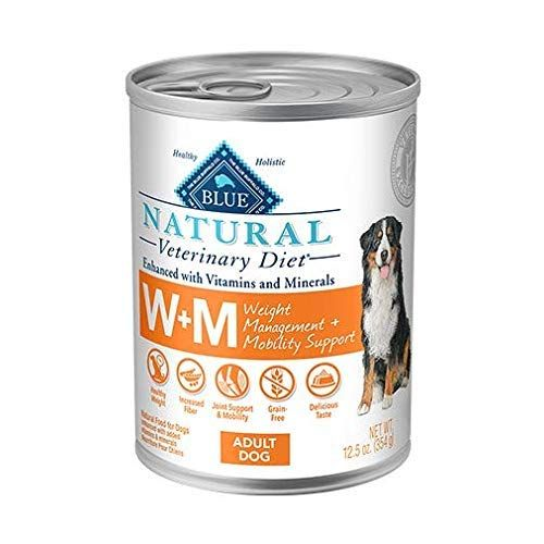 Blue Natural Veterinary Diet W M Weight Management And Mobility Support Canned Dog Food 12 12 5 Oz In 2020 Canned Dog Food Dog Food Recipes Healthy Dog Food Brands