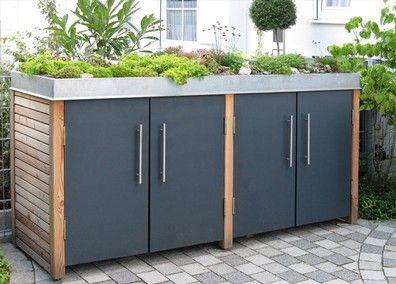 Müllhäuser und Fahrradhäuser - Stahl für den Garten und das Heim