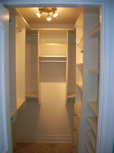 Interior design small walk in closet white walk in for How to design a master bedroom closet