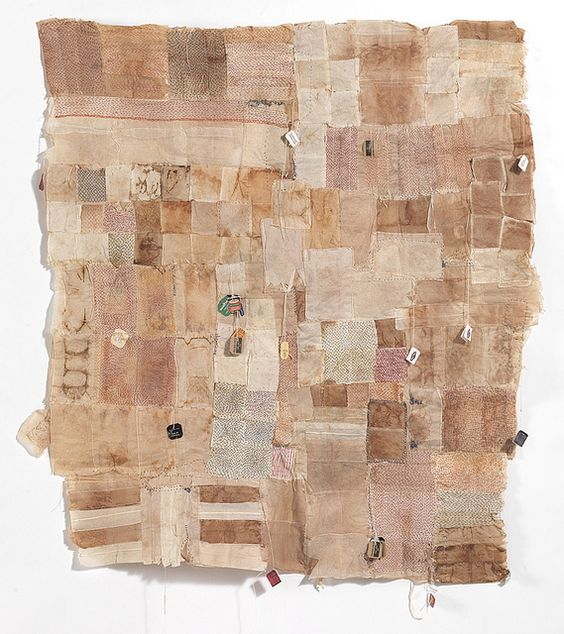 Sophie Truong Teabag quilt panel 1 by sophie truong, via Flickr