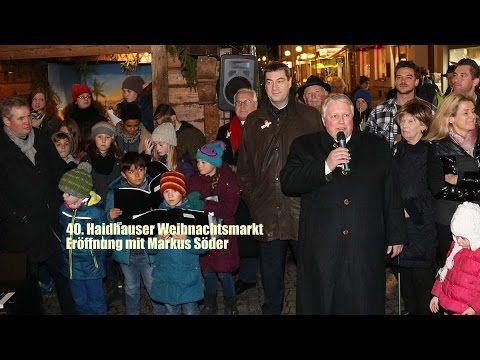 40. Haidhauser Weihnachtsmarkt 2015 - Eröffnung mit Markus Söder