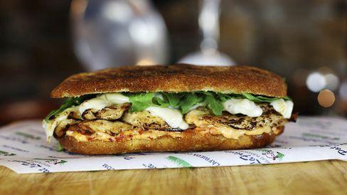 LaFrieda's new grilled chicken sandwich.