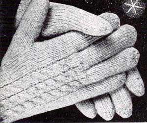 Men's & Women's Cable Gloves Pattern   Knitting Patterns