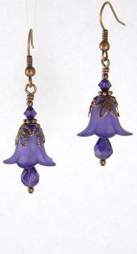 Purple Velvet Artisan Earrings ~ Seller: Gina M DeStevens