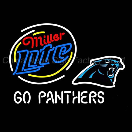 Panthers Miller Lite neon sign