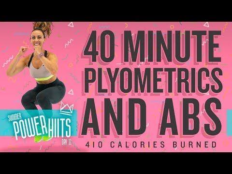 40 Minute Plyometric And Abs Workout Burn 410 Calories Sydney Cummings Youtube Plyometrics Abs Workout Workout Calendar