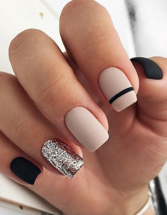 Trendy Nail Art Designs For 2020 In 2020 Solid Color Nails Rose Gold Nails Gold Nails