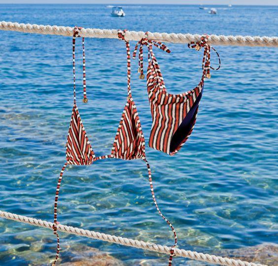 Tory Burch Printed String Bikini