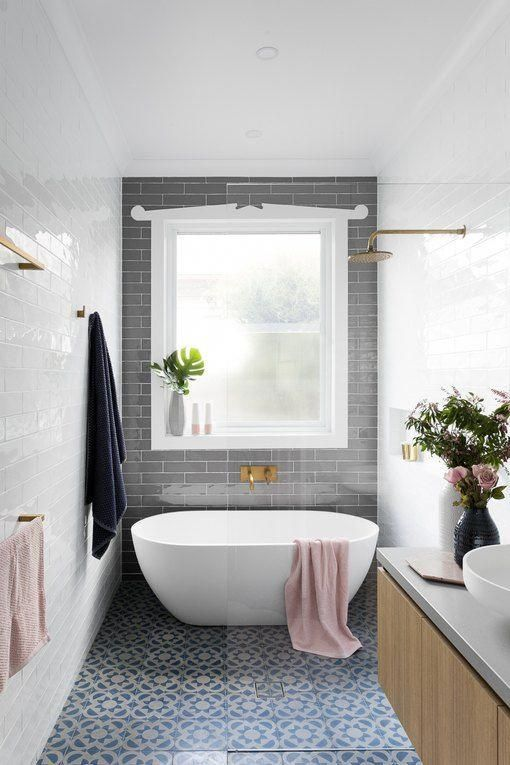 These 8 Bathroom Ideas Are The Reason We Love A Good Bathtub Shower Combination Hunker Freestanding Tub Shower Glass Shower Tub Bathtub Shower Combo