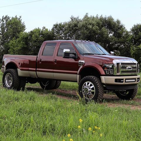 Dieselqueen08 2008 Maroon Ford F450 Dually King Ranch Featuring