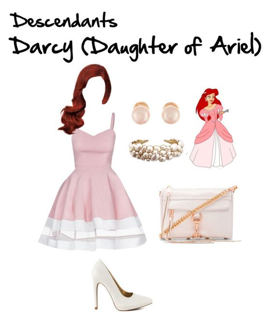 """Descendants: Darcy // Kazia"" by fictional-fandom-freak ❤ liked on Polyvore featuring Qupid, Rebecca Minkoff, Kenneth Jay Lane, disney, ariel and Descendants"