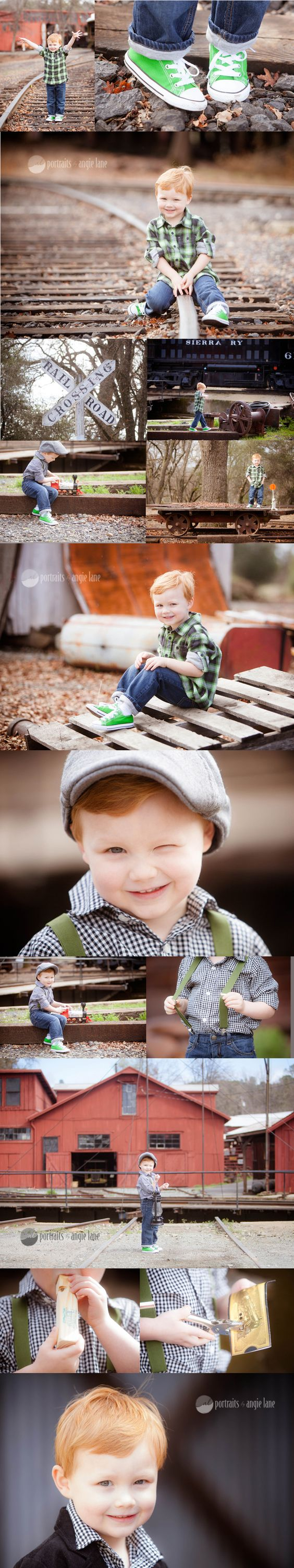 All about me session boy train session Portraits by Angie Lane