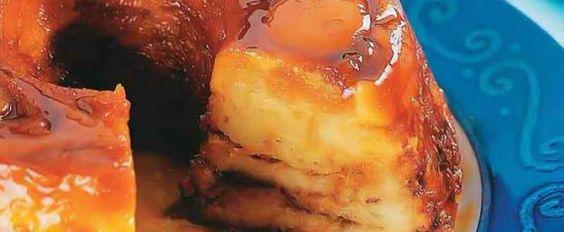 Receita de Pudim de pão com chocolate e coco
