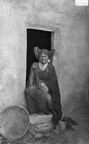 Nampeyo or Numpeyo (Harmless Snake), Hopi Maiden, in Native Dress n.d, by William Henry Jackson (1843-1942)