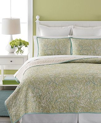 Martha Stewart Collection Painted Paisley Quilts