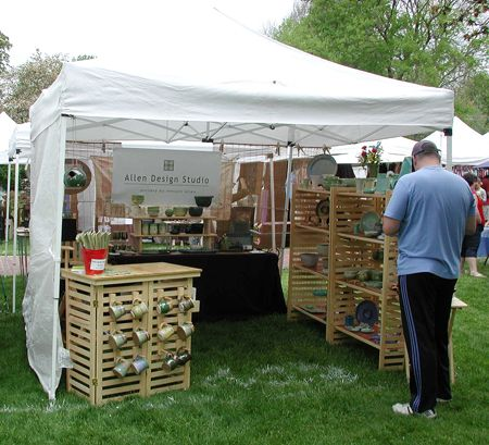 Craft fair displays craft fairs and display ideas on for Display tents for craft fairs