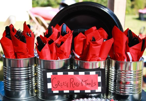 kids party antifreeze  | Grease Rags & Tools= Napkins and Silverware