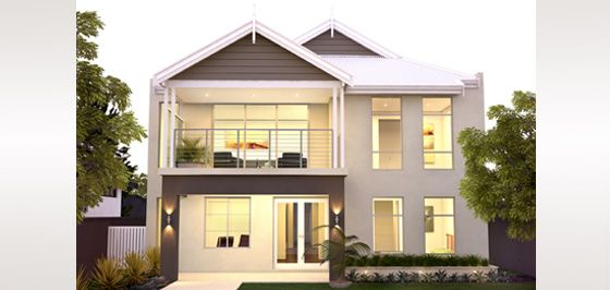 The south beach 2 storey narrow lot homes perth double for Plunkett home designs