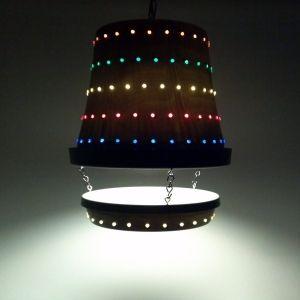 Flower Pot Lamp by Suzis Crafts