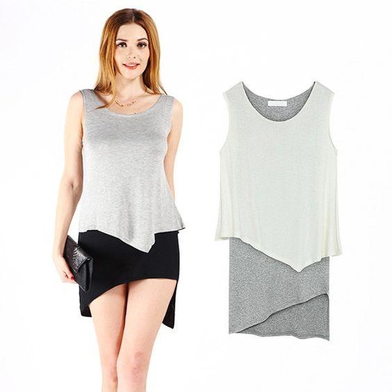 2-in-1-Kleid im asymmetrischen Design - Jetzt reduziert bei Lesara