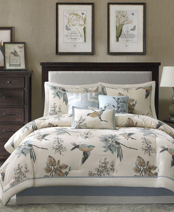 Sundance Spring Comforter Set King Bed Linens Luxury Gold