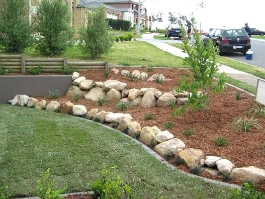 Rock Garden Border Ideas Stone Lawn Landscaping With Rocks