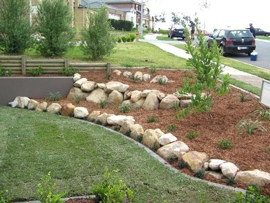Rock Garden Border Ideas Stone Lawn Landscaping With Rocks