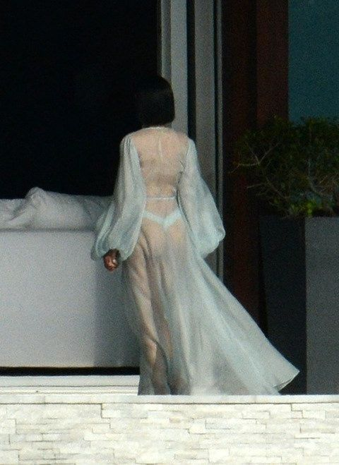 RiRi on set of video shoot in Miami