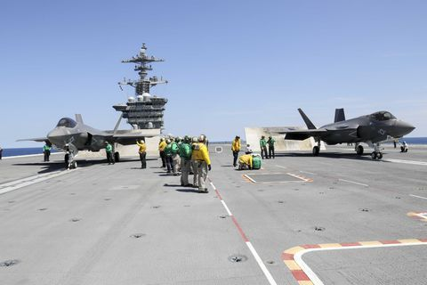 Carrier-based F-35s could become the eyes and ears of a submarine-launched supersonic missile. U.S. NAVY PHOTO BY MASS COMMUNICATION SPECIALIST 1ST CLASS JOSUE ESCOBOSA