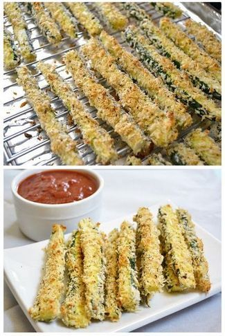 Baked zucchini fries | Foodboum