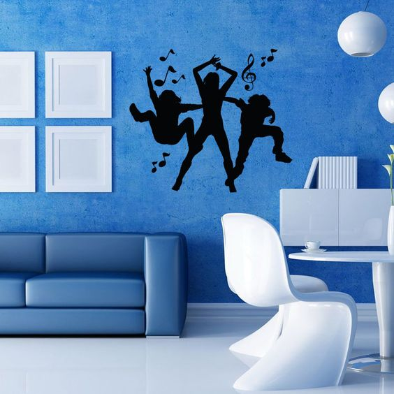 Dance with Music Wall Decal  Music is the essence of life. Music helps us to be happy and enjoyable all through life. Dance is the result of music. Dance helps us to project our grace and happiness through our moves. So, if you love dancing, this wall mural is for you. Buy and place this wall mural on smooth surface and when ordered it will be shipped at your doorstep in 2 business days.