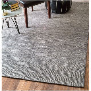 nuLOOM Handmade Flatweave Concentric Diamond Trellis Wool/ Cotton Rug (10' x 14') | Overstock.com Shopping - The Best Deals on 7x9 - 10x14 Rugs