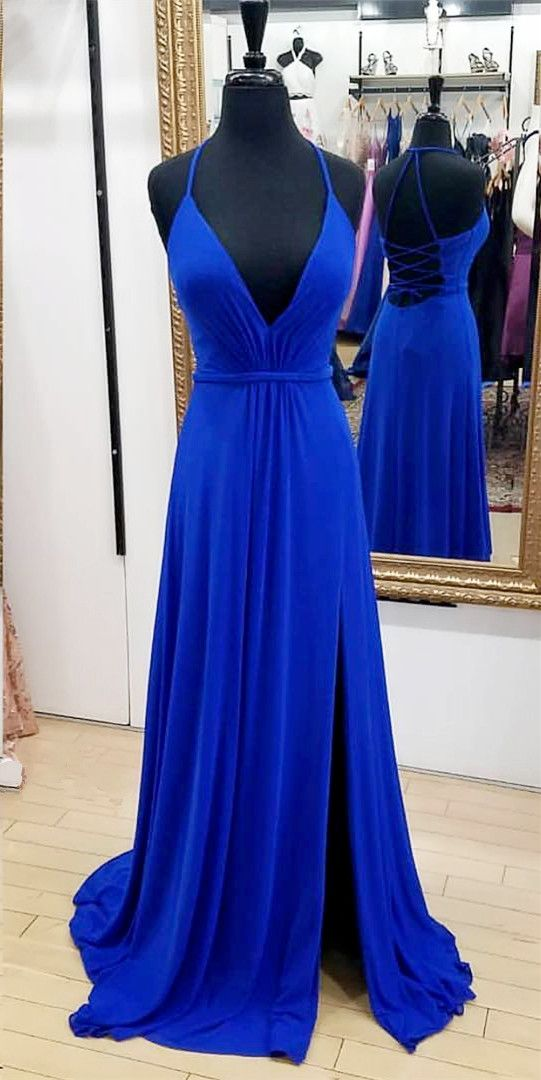 1c8a848e631 Straps Navy Blue Mermaid Long Evening Dress from dreamdressy