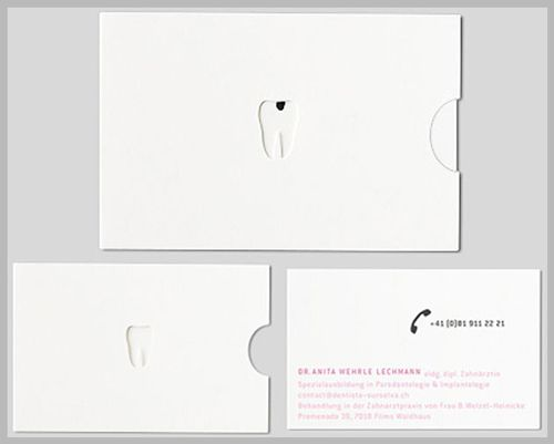 business card design dentist http www arcreactions com