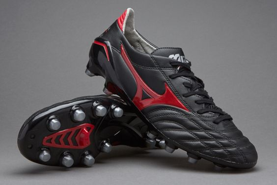Mizuno Morelia Neo Leather MD - Black/Chinese Red