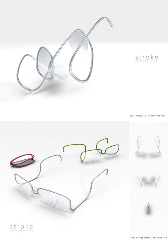 design awards gold prize and eyeglasses on