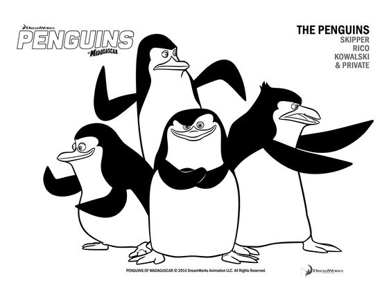 The Penguins Of Madagascar Coloring Pages Penguin Coloring Pages Penguin Coloring Coloring Pages