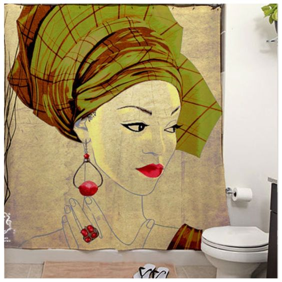African inspired shower curtain   Afrocentricity   Pinterest   Shower ...