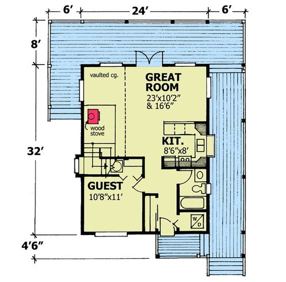 Plan 9805SW Vacation Hideaway 2nd floor, House plans and Cottages