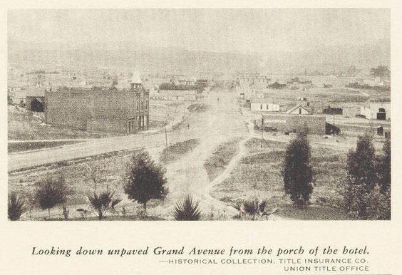 Looking down unpaved Grand Avenue from the Escondido Hotel. #throwbackthursday #palomarcares
