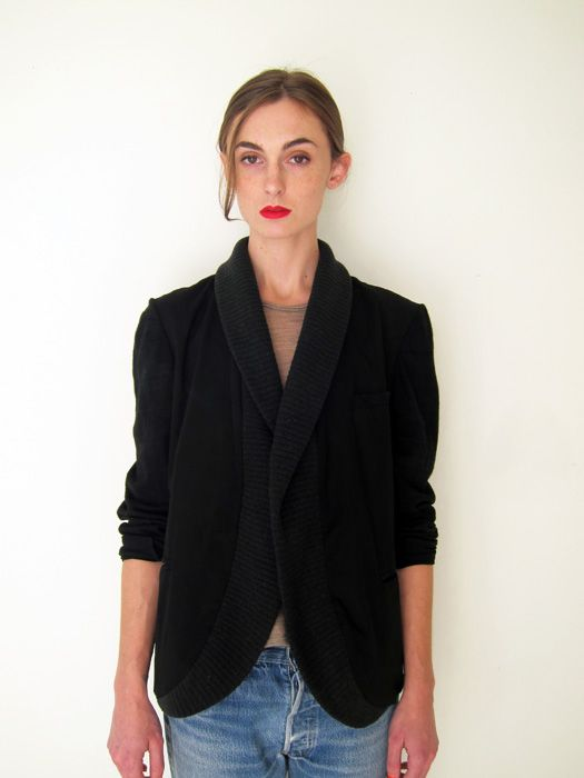 knit shawl blazer/assembly new york