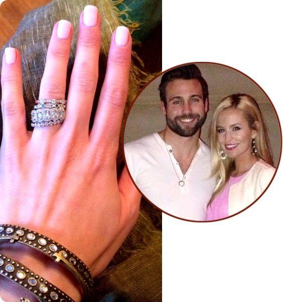 The Bachelorette S Emily Maynard S Beautiful Stacked Set Of Wedding Engagement Rings Emily Maynard Engagement Surprise Wedding