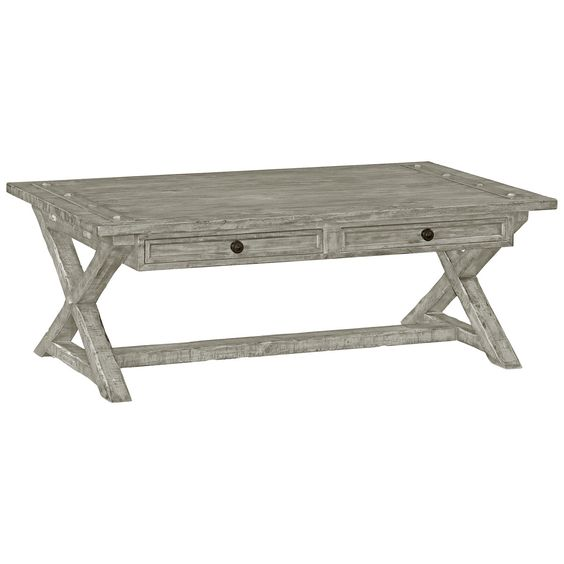 charles coffee table in rustic grey