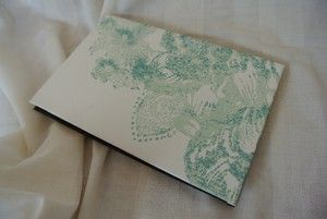 Turquoise Floral Book by Lauren Fletcher you can purchase this and many more beautifully handmade items on her Tictail store here
