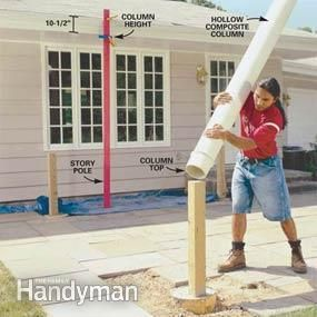 Photo 3: Set the columns upside down on the posts